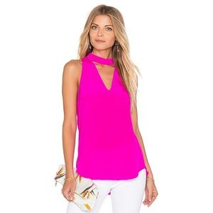 Amanda Uprichard Cassia Tank in Hot Pink Light